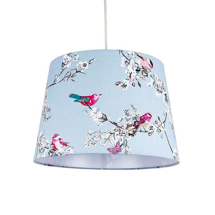 duck egg beautiful birds ceiling light shade dunelm. Black Bedroom Furniture Sets. Home Design Ideas