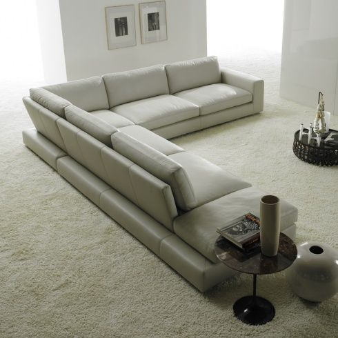 Relax Contemporary Leather Italian Corner Sofa   The View From The Back  Showcases They Unique Design