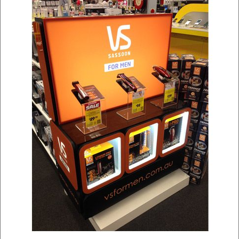 Vidal Sassoon Lighted Cubes End Cap Display