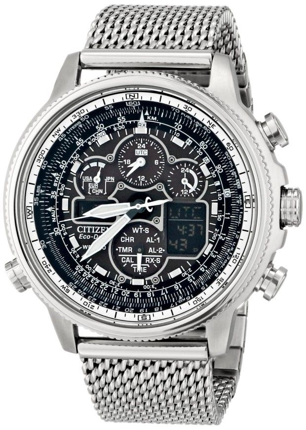 Men watches Citizen Eco-Drive Navihawk A-T Stainless Steel Men's watch #JY8030-83E Watches men