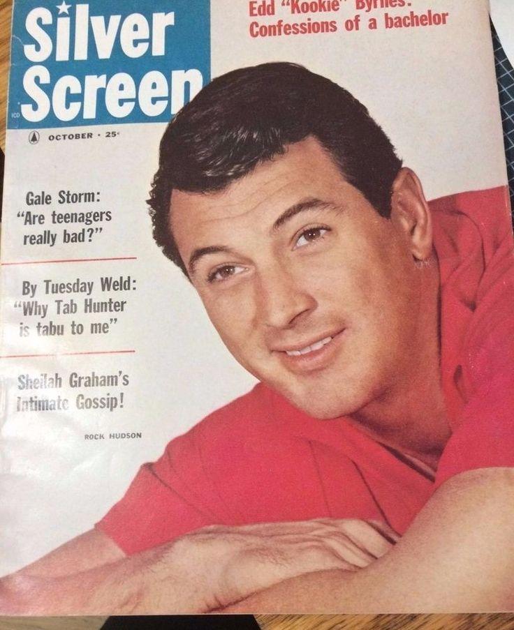 Silver Screen 1959 Movie Magazine Vtg Rock Hudson,Tab Hunter,Brigitte,Duke,Dean