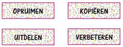 Labels om klasseerbakjes te organiseren