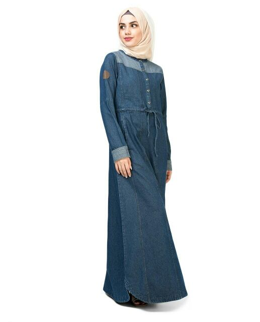 Just Denim Abaya | SilkRoute | My Online Souk | www.myonlinesouk.co.za