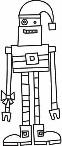 Robot Santa design (UTH3978) from UrbanThreads.com