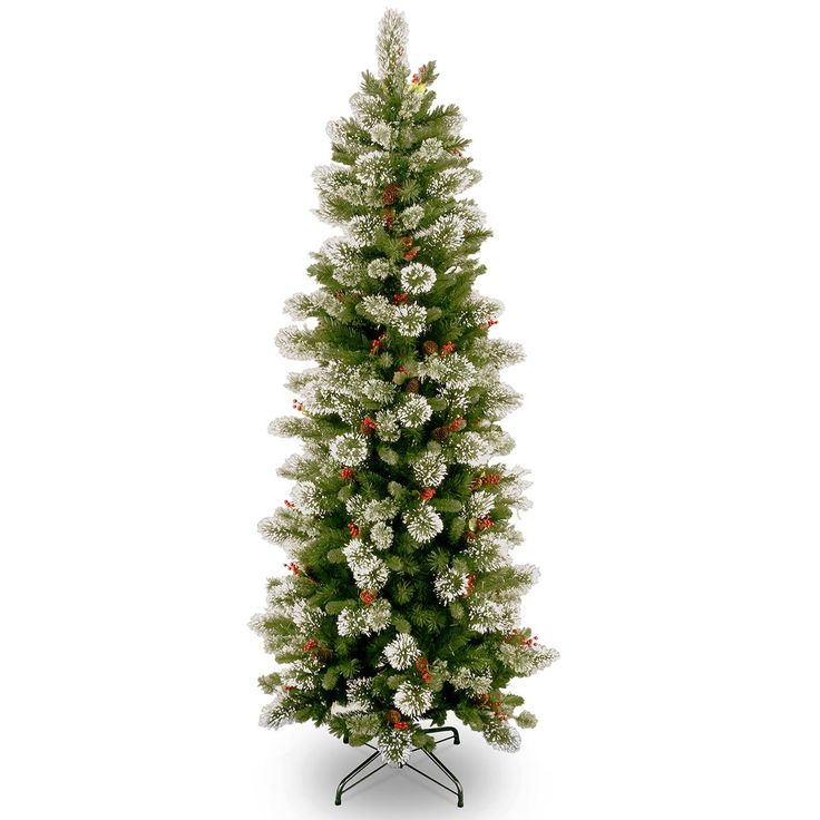 6ft wintry pine slim artificial christmas tree
