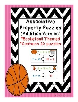 Associative Property of Addition Puzzles 1.OA.B.3
