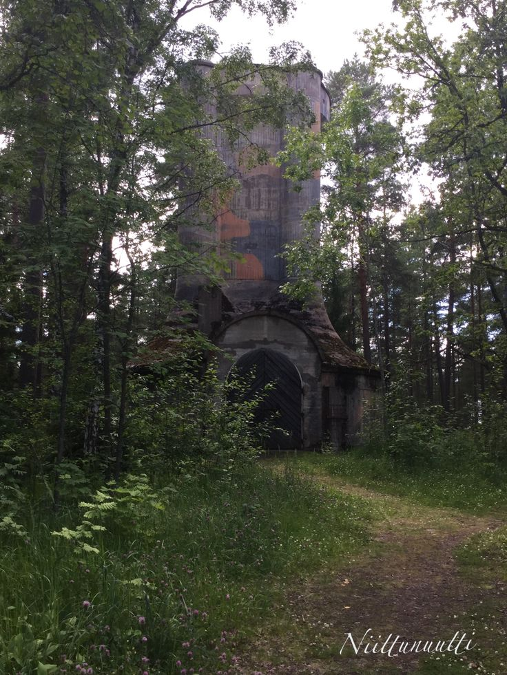 Still a bit scary... One of the two defense towers that protected the Rajamäki Alcohol Factory during the 2nd World War