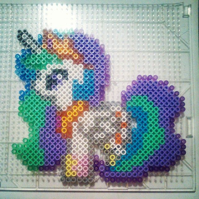 MLP Princess Celestia perler beads by motherofperler