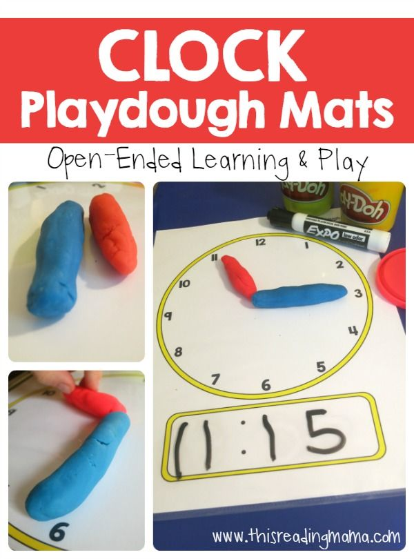 Telling Time - Clock Playdough Mats from This Reading Mama