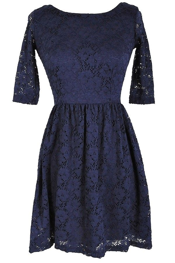 http://www.lilyboutique.com/shop/dresses/navy-three-quarter-sleeve-lace-dress/