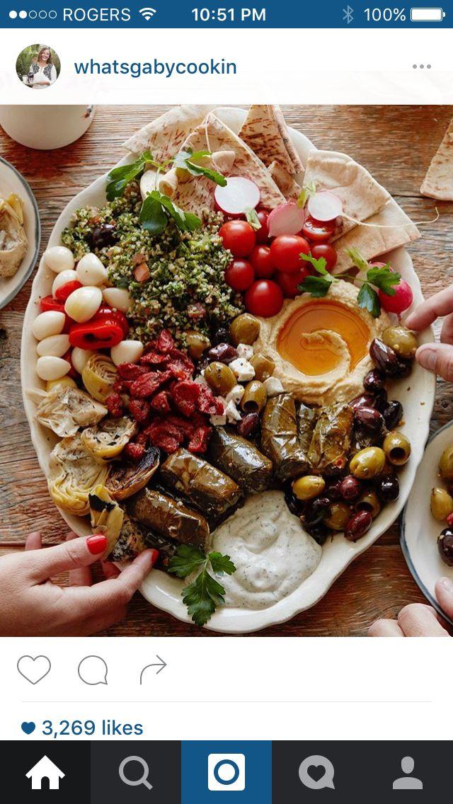 Mediterranean platter.