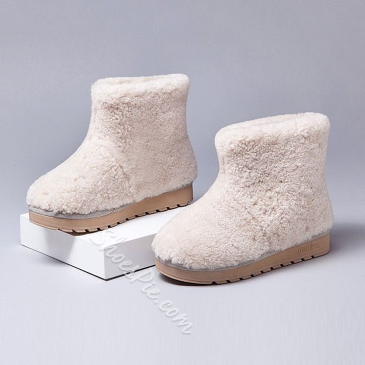 Shoespie Warm in Cold Weather Shearling Snow Boots