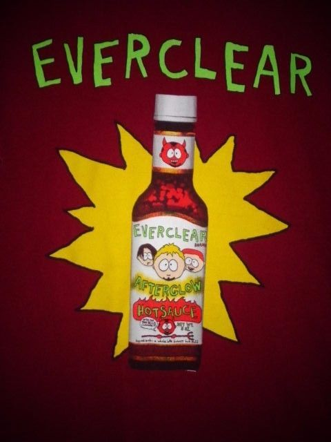 VTG Everclear band adult large t-shirt hot sauce design cartoon HTF #FruitoftheLoom #GraphicTee