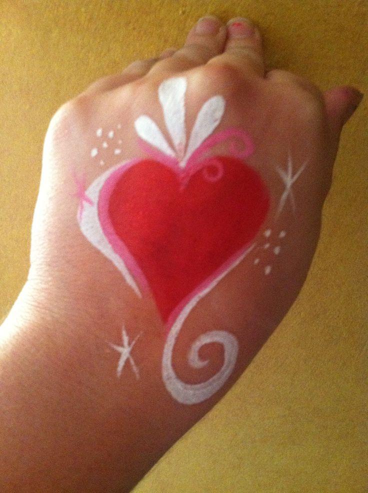 Beautiful quick heart cheek art :)