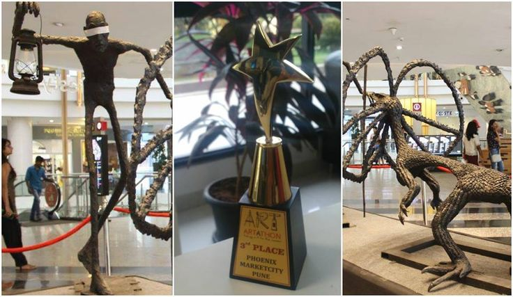 'The Devil of Darkness' installation created by DSKIC students wins #3rd Place at #Artathon Phoenix Marketcity - Pune (Official). Thank you all for voting!