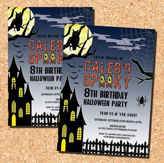 Halloween Invitation Halloween Birthday Invitation Halloween Etsy Halloween Birthday Invitations Halloween Invitations Halloween Party Invitations
