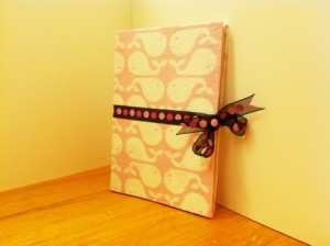 Make a journal from a recycled cereal box!