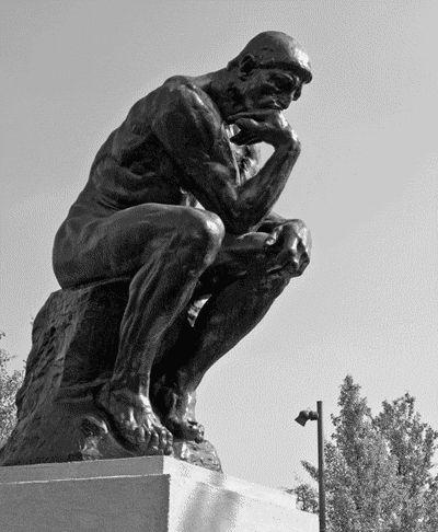 Animated GIF. The Thinker, Rodin