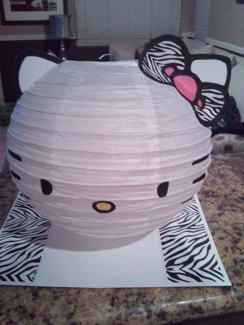 Zebra Bow Hello Kitty by shelbynbosch on Etsy, $9.98