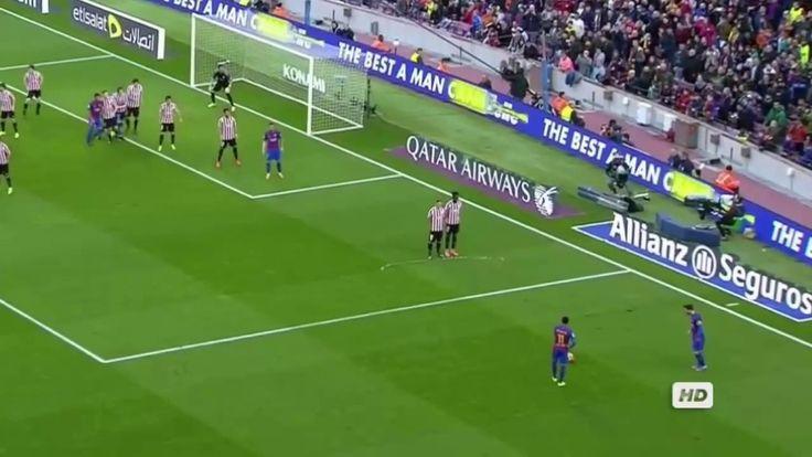 Lionel Messi Free Kick Goal Barcelona vs Athletic Bilbao 2-0 La Liga San...