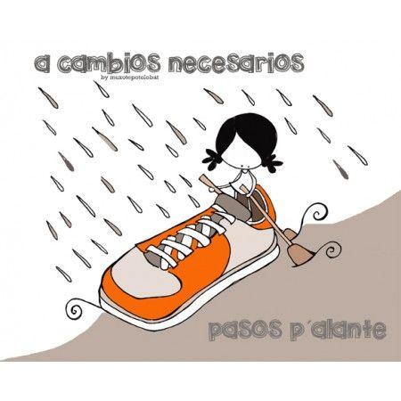 A nubes borrascosas, hidratación cardíaca. A grandes retos  por la igualdad... mujeres valientes. A días lluviosos... zapatillas naranjas. Eeeeegunon mundo!!