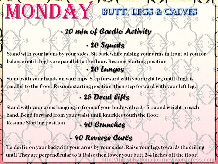 Easy 30 Day Workout Challenge. Looks good for a beginner. Workout 5 days a week plus questions to keep motivated.