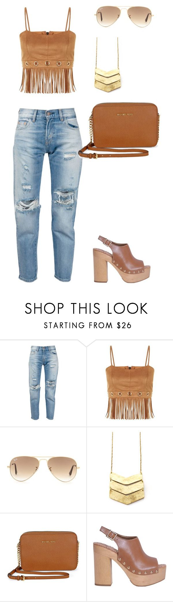 """""""Casual..."""" by sylver-fang on Polyvore featuring Levi's, Parisian, Ray-Ban, Michael Kors, Sam Edelman, women's clothing, women, female, woman and misses"""