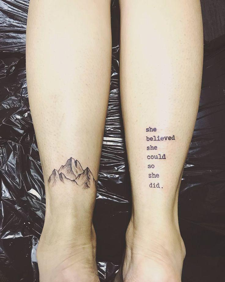 12++ Stunning Simple mountain tattoo on foot ideas in 2021