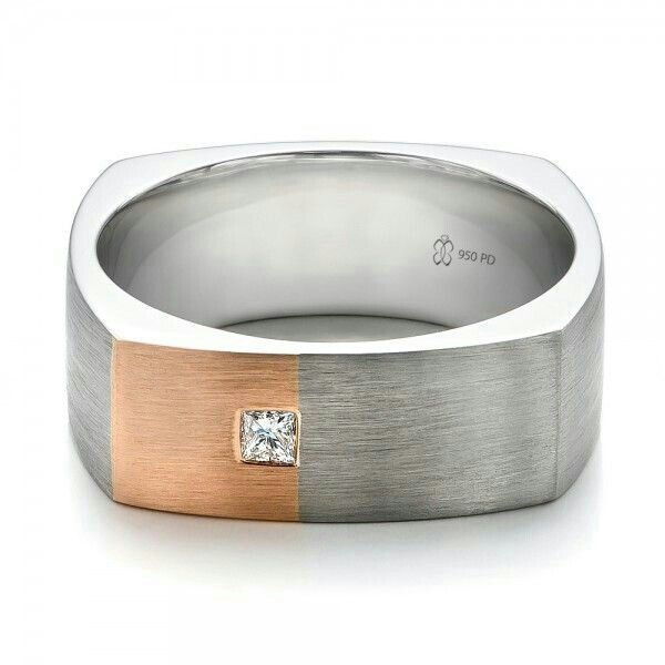 Men S Square Wedding Band Square Wedding Rings Rings For Men Cushion Diamond Engagement