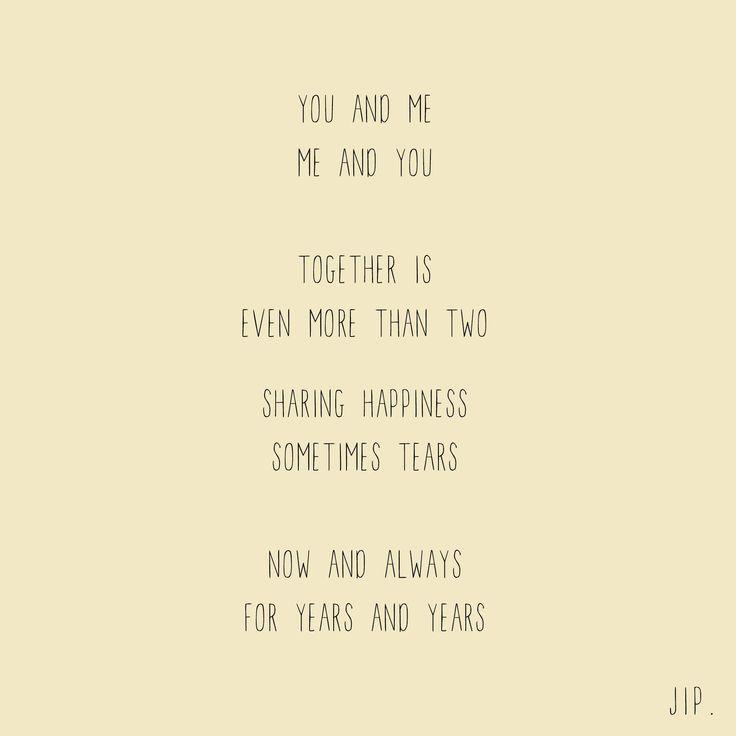 Tekstje, gedichtje van Gewoon JIP.