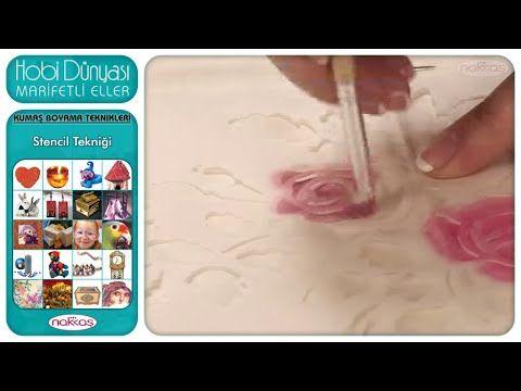 LADY CRAFT - Stencil Uygulaması - YouTube