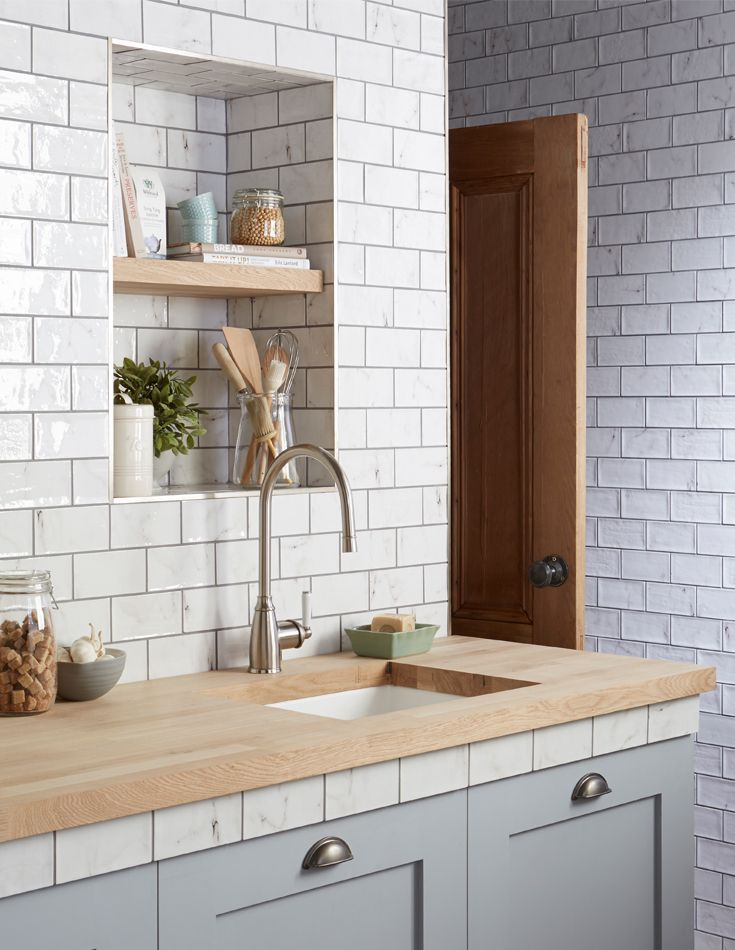 Inspired by Calacatta marble found in Italy, the small format tile replicates the thin, delicate veining of the marble with each tile featuring a unique variation. Available in two finishes, gloss and matt, mix and match for an eclectic finish in your kitchen or bathroom.