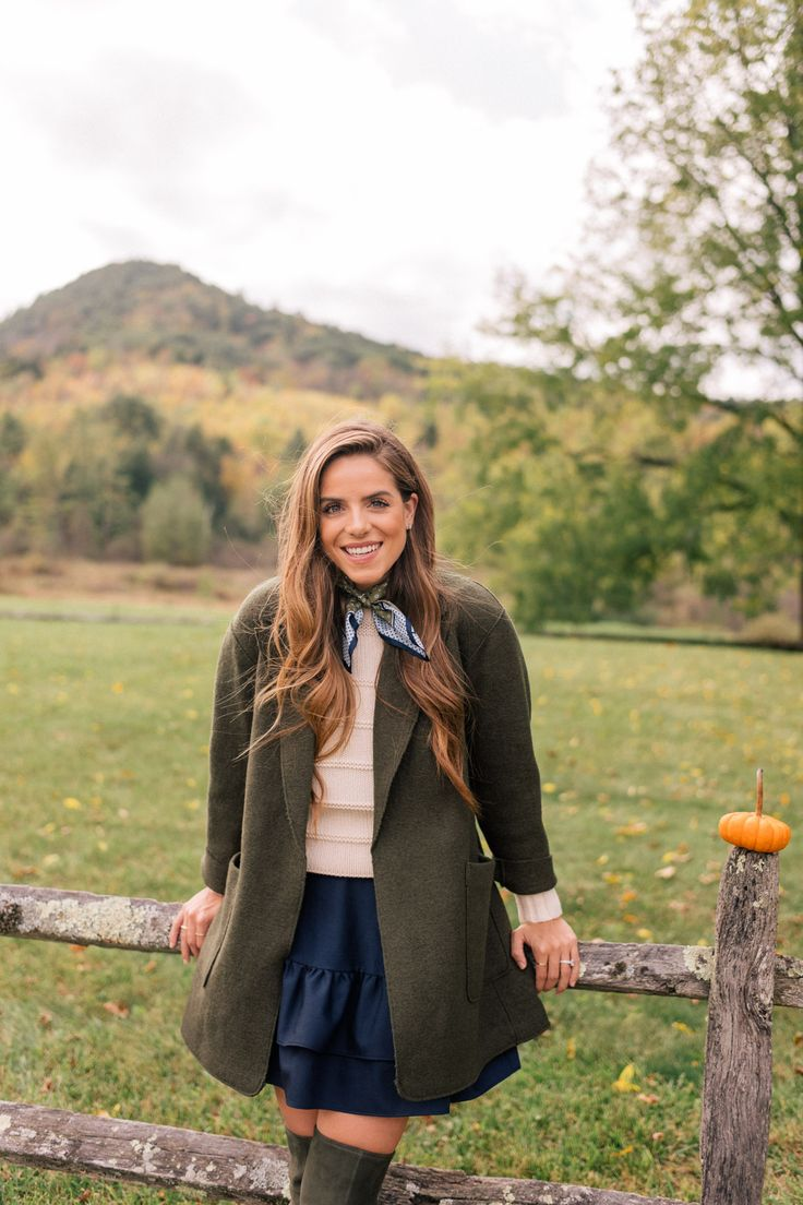 Gal Meets Glam An October Day In New England - J.Crew coat, Rebecca Taylor sweater, J.Crew skirt, Tory Burch boots, & Tory Burch bag, #sponsored