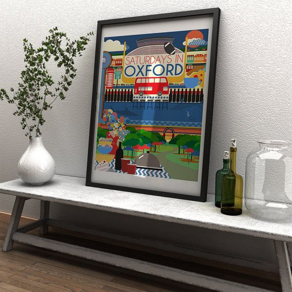Ole Miss  Saturdays In Oxford  Ole Miss Game Day Art by GusAndCleo