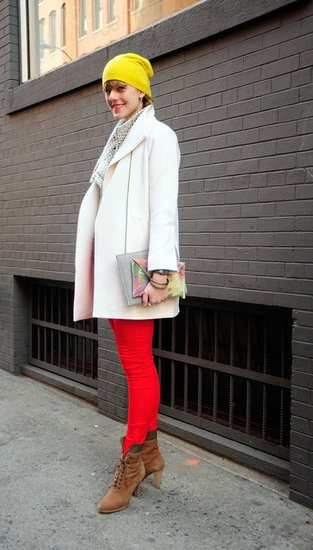 sporting primary colors seems to be a huge hit this winter on the streets of NYC. From top to bottom add a bright burst of color to your wardrobe!: Winter Street Styles, Primary Colors, Style Fall, Stl Styleorialist, Street Style Fashion
