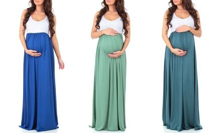 74% Off on Women's Maternity Maxi Dress | Groupon Goods