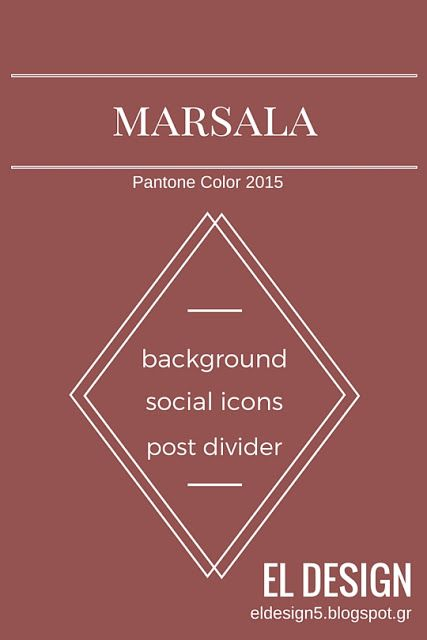 Marsala Color (background,social icons, post divider) : Freebies