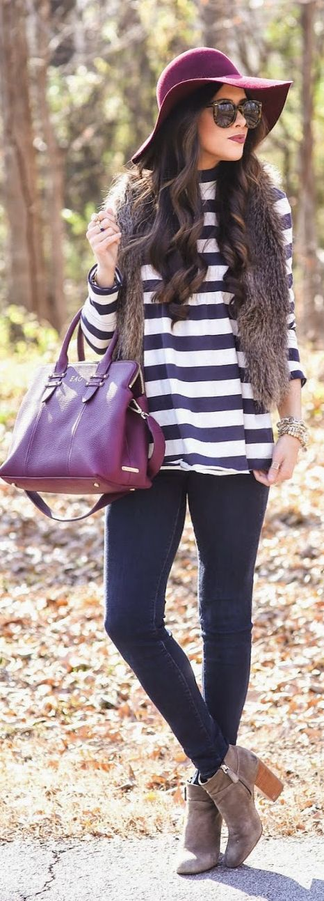 Navy And White Loose Stripe Jersey by The Sweetest Thing