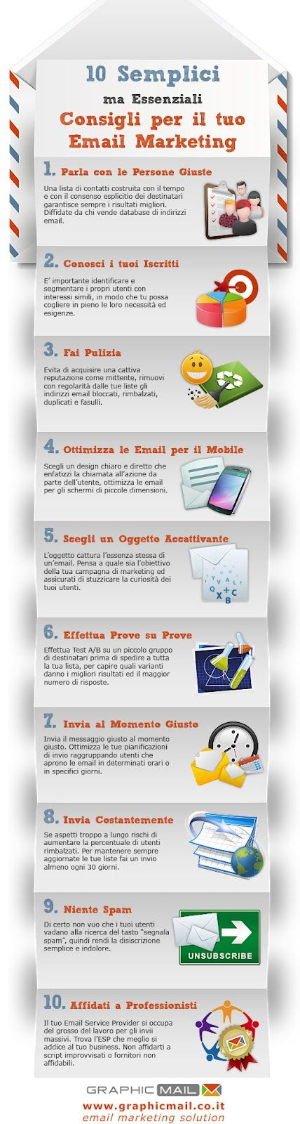 10 semplici Consigli per il Tuo Email marketing #infografica #infographic #uplink www.uplink.it