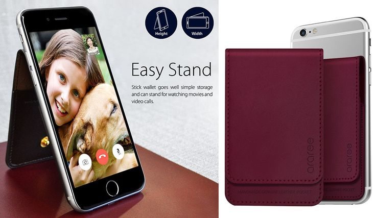 Designed to fit most Apple or Samsung mobile phones and made from premium leather the Smart Wallet is a phone case, phone stand and a wallet all in one.