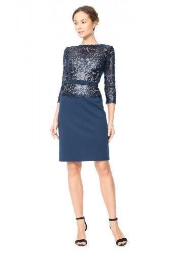 APT2204M Sukienka wieczorowa #eveningdress #cocktaildress #navydress