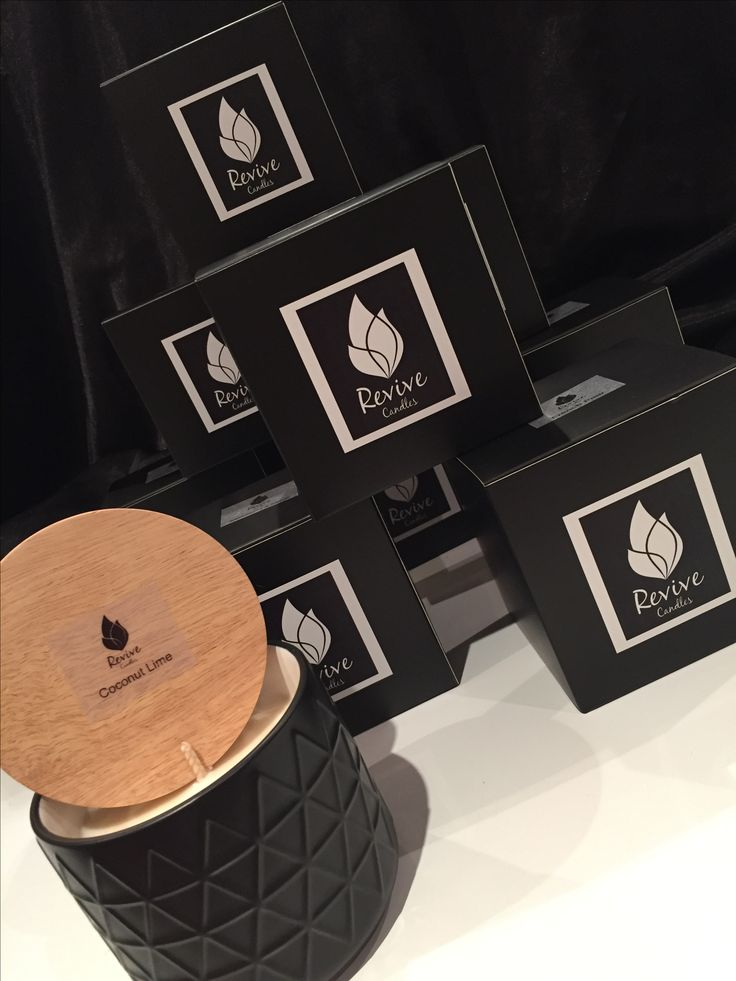 Stone pot candles with wood lid, refillable and beautifully packaged