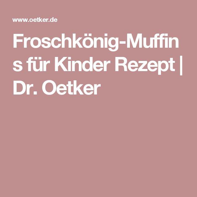 Froschkönig-Muffins für Kinder Rezept | Dr. Oetker