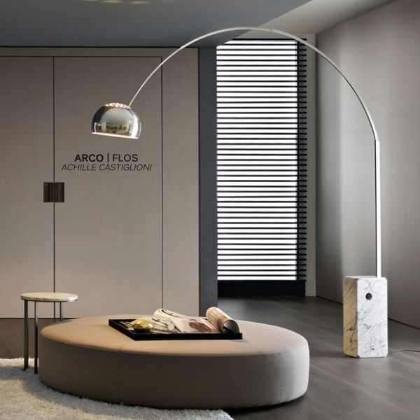 Arco Floor Lamp | Designed by Achille Castiglioni | Produced by Flos