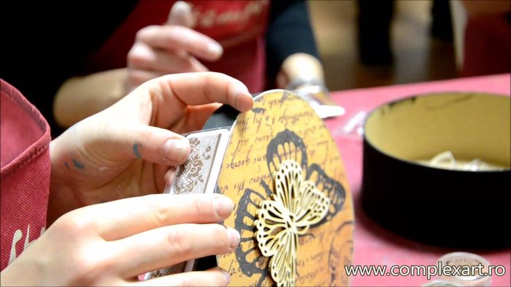 Tutorial - Embossing Powder, High Deffinition Stamps & Decoupage