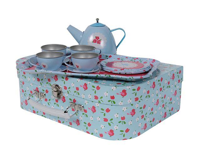 Tiger Tribe Vintage Bluebell Tin Tea Set - Gifts for Girls