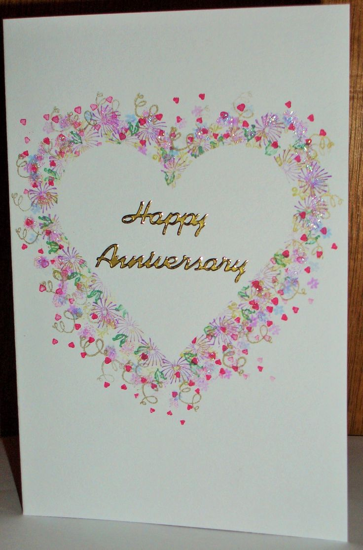 Anniversary Card using Card-I-O Tapestry Stamps