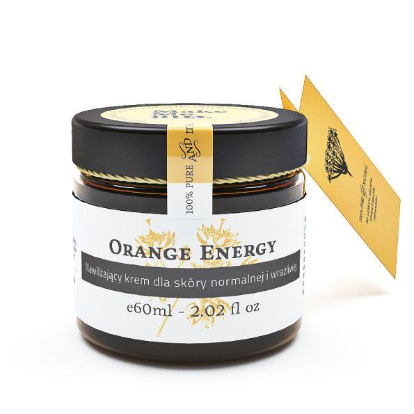 Energia dla skóry na cały dzień! Krem Orange Energy dla skóry normalnej i wrażliwej. Nawilżający.