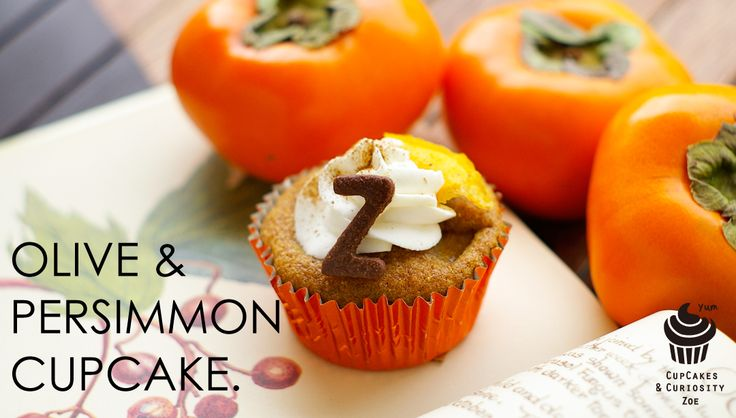 Olive & Persimmon cupcakes