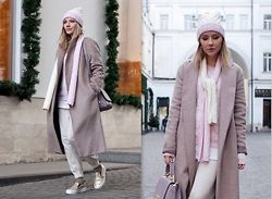Victoria Platina - Zara Coat, Sweetsweaters Sweaters, Sweetsweaters Hat, Bershka Slipons - My casual design